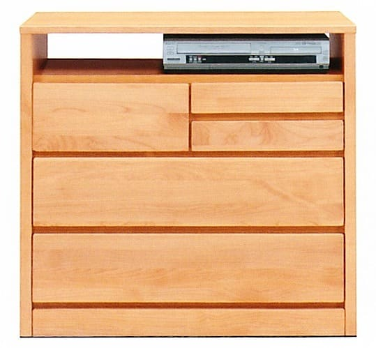 TVボード ティアラ80-3(NA):家電・小物類はイメージです。