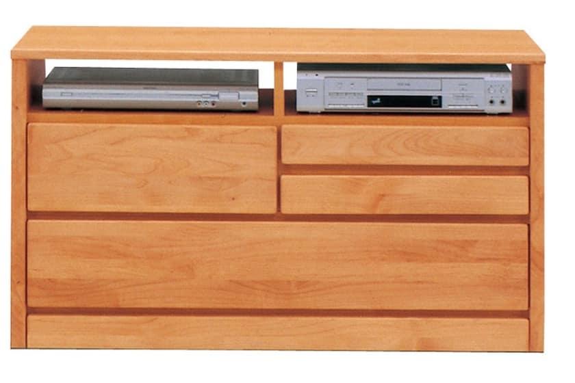 TVボード ティアラ105-2(NA):家電・小物類はイメージです。