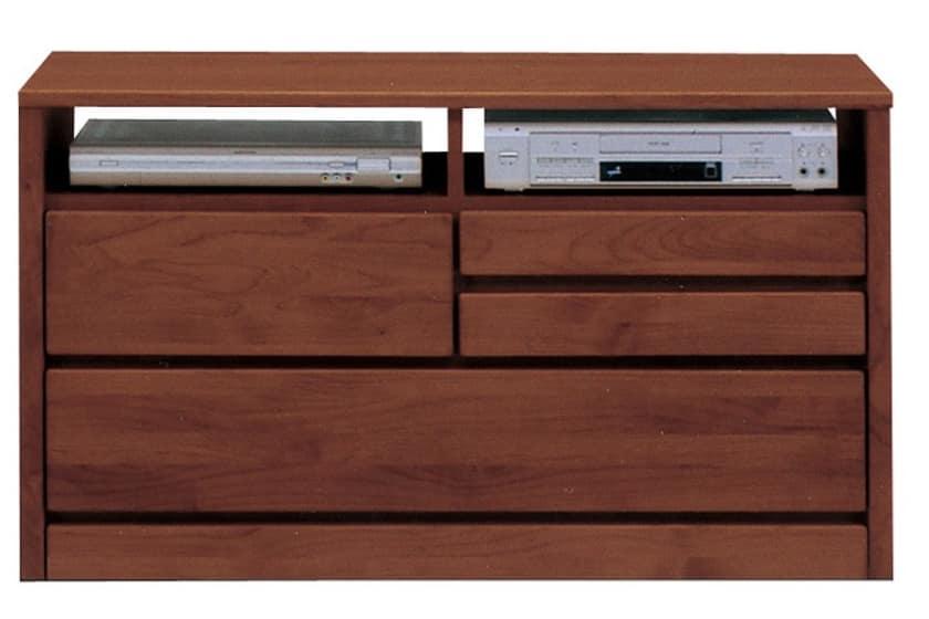TVボード ティアラ105-2(DBR):家電・小物類はイメージです。