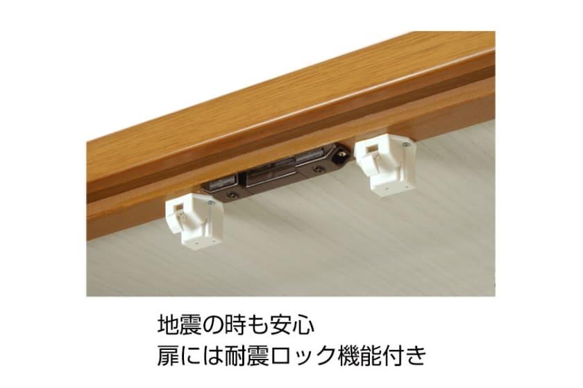 ビューティEX 洋服タンス90(ダークブラウン):写真はナチュラル色です。