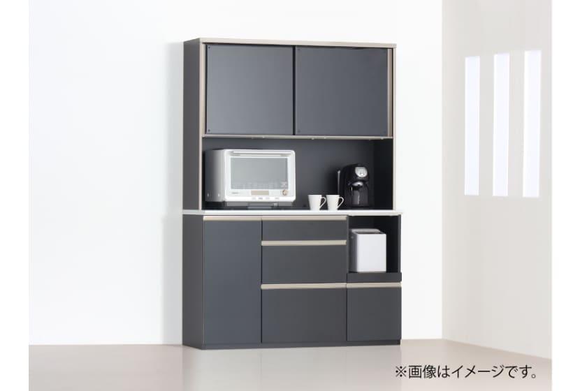 食器棚 サイゼスト 135 ※奥行49cm(ブラック)