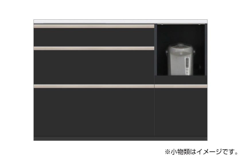 カウンター サイゼスト 125 ※奥行49cm(ブラック)