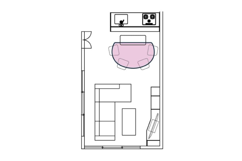 ダイニング5点セット COME HOME(ドーム型/白木目天板)
