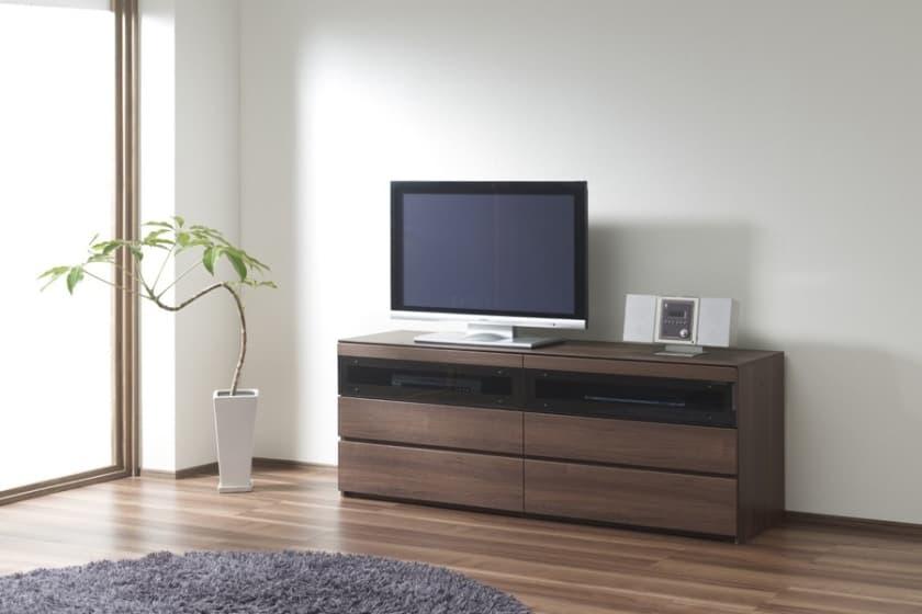 パモウナ テレビボード GV-140 N (ウォールナット)