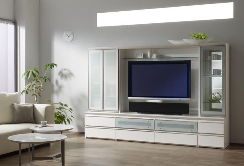 パモウナ TVボード VD-1400W (パールホワイト)
