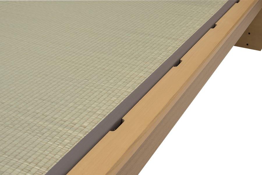 シングル畳ベッド  スミカ キャビネット ナチュラル