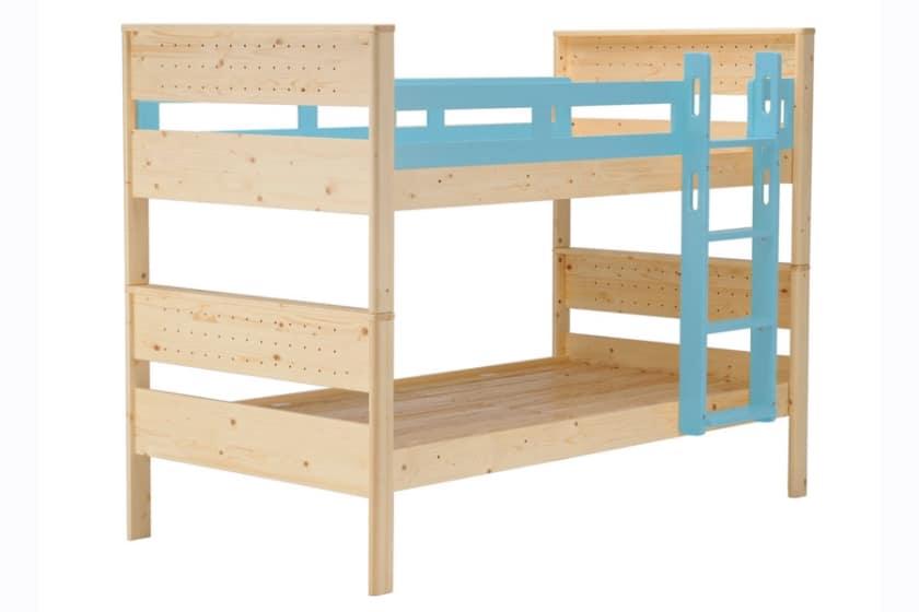 二段ベッド ヒュッテ(本体:ナチュラル/パーツ:ブルー)