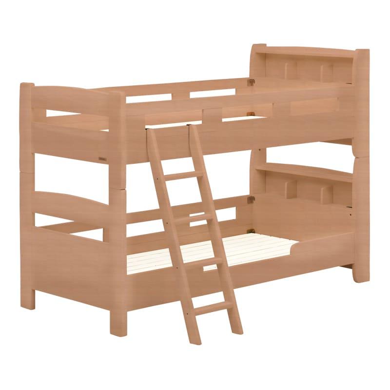 2段ベッド フリート キャビネット(ナチュラル)