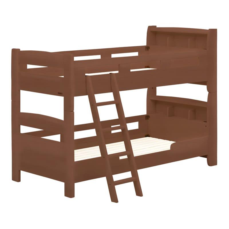 2段ベッド フリート キャビネット(ブラウン)