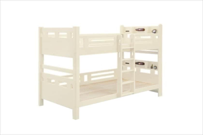 二段ベッド シャーロット(ホワイト)