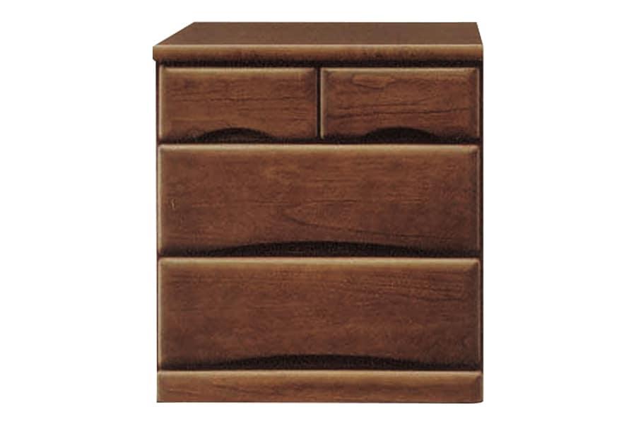 ローチェスト  ワークス60−3 ダーク:□シンプルデザインの木製チェストシリーズ□