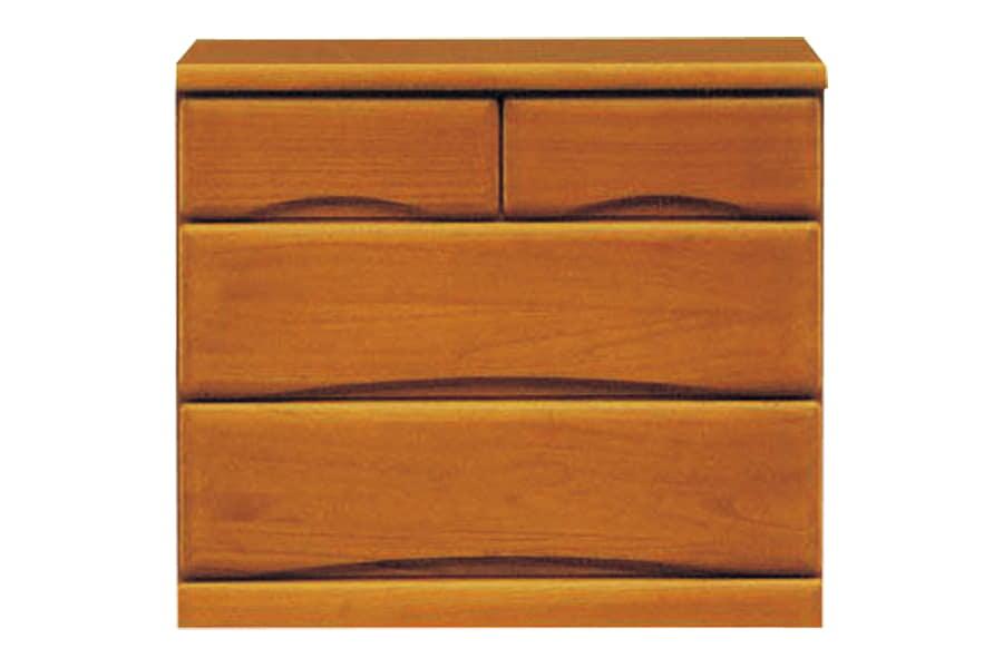 ローチェスト  ワークス75−3 ミドル:□シンプルデザインの木製チェストシリーズ□