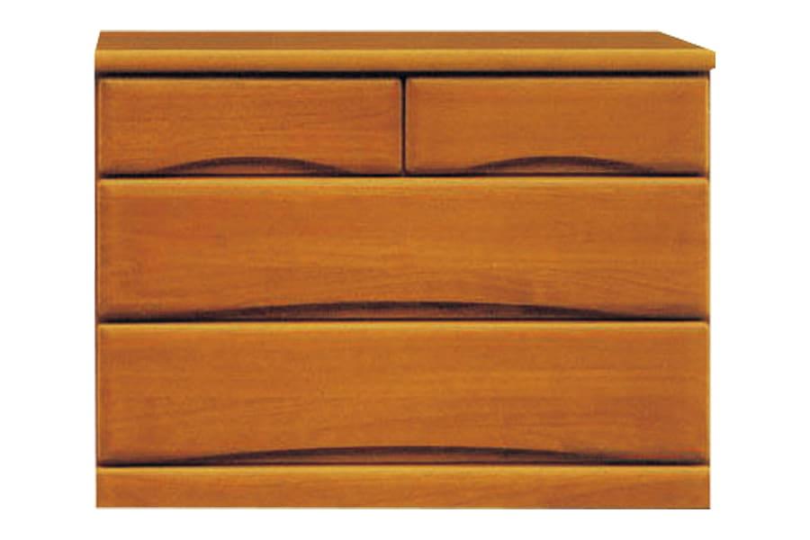 ローチェスト  ワークス90−3 ミドル:□シンプルデザインの木製チェストシリーズ□