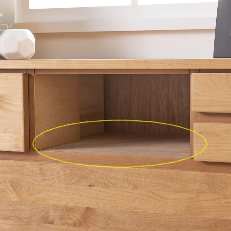 TVボード ティアラ 60-2(DBR):強度を高める地板(スラセ)は全段完備