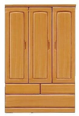 洋服タンス エヴァ120 LBR:《高級感のある仕上がり「エヴァ」》