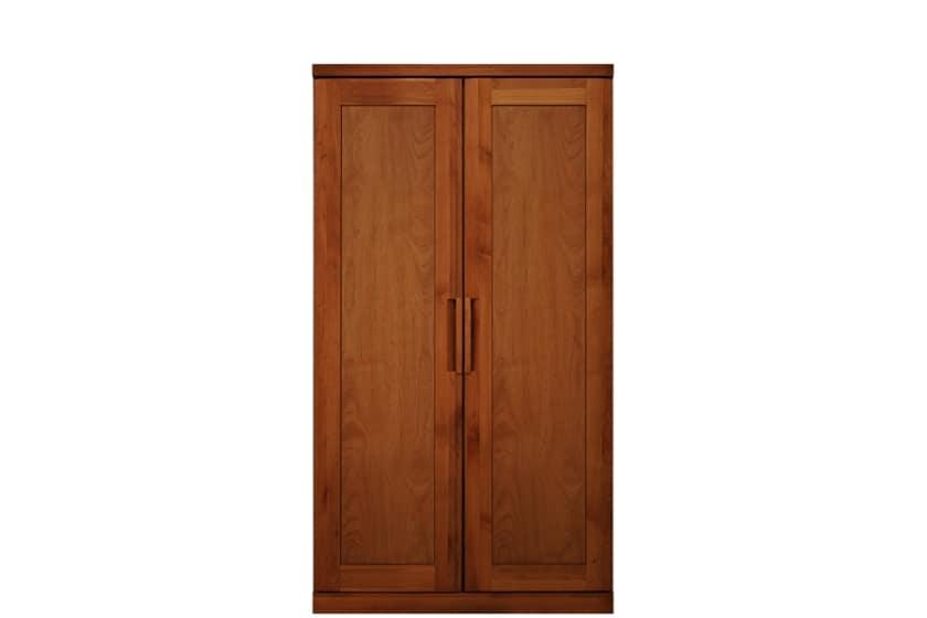 ステラスタンダード 100洋服 H=182・2枚扉 (チェリー):熟練の職人たちにより作られた確かな品質。