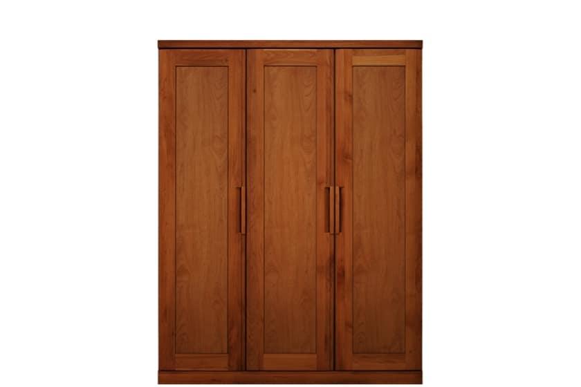 ステラスタンダード 140洋服 H=182・3枚扉 (チェリー):熟練の職人たちにより作られた確かな品質。