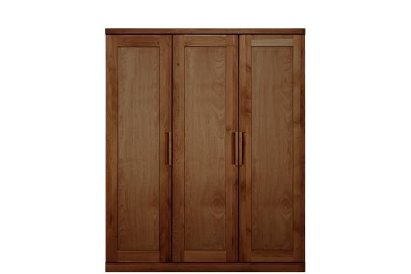 ステラスタンダード 150洋服 H=182・3枚扉 (ウォールナット):熟練の職人たちにより作られた確かな品質。