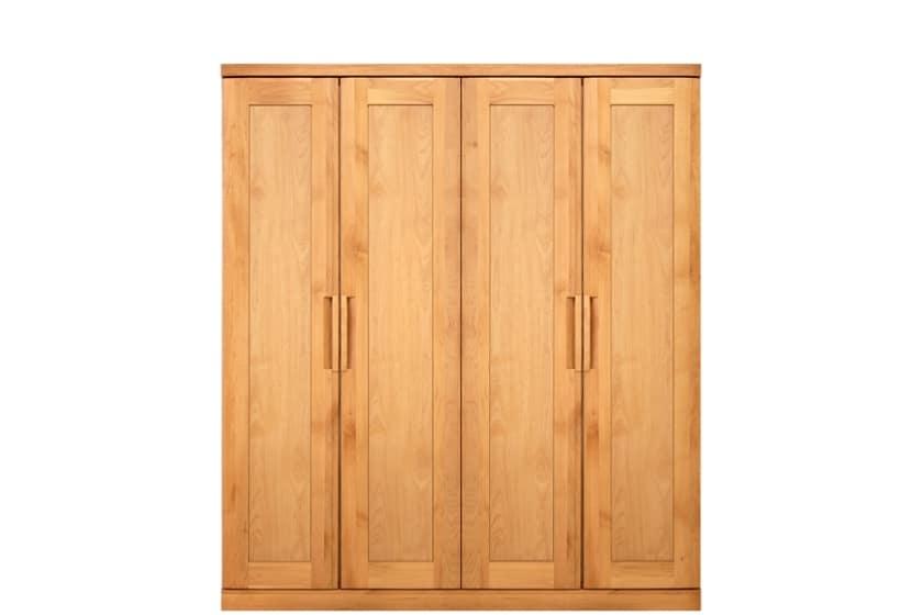 ステラスタンダード 160洋服 H=182・4枚扉 (ナチュラル):熟練の職人たちにより作られた確かな品質。