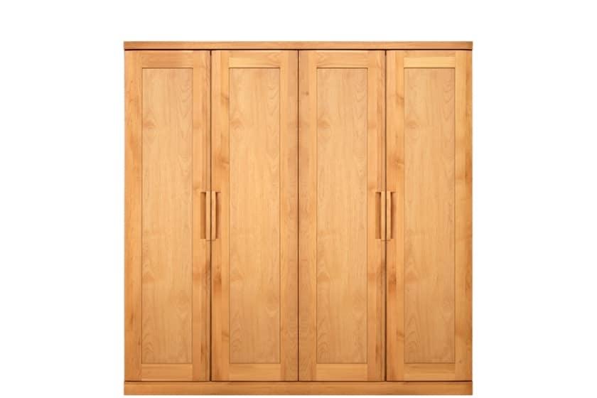 ステラスタンダード 180洋服 H=182・4枚扉 (ナチュラル):熟練の職人たちにより作られた確かな品質。