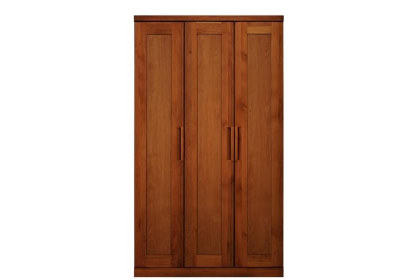 ステラスタンダード 110洋服 H=192・3枚扉 (チェリー):熟練の職人たちにより作られた確かな品質。