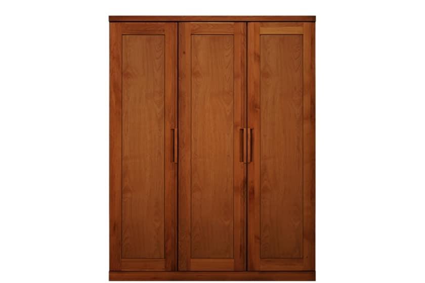ステラスタンダード 150洋服 H=192・3枚扉 (チェリー):熟練の職人たちにより作られた確かな品質。
