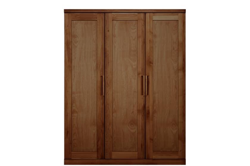ステラスタンダード 150洋服 H=192・3枚扉 (ウォールナット):熟練の職人たちにより作られた確かな品質。