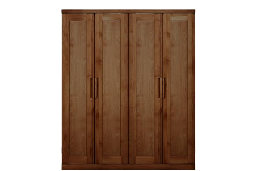 ステラスタンダード 160洋服 H=192・4枚扉 (ウォールナット):熟練の職人たちにより作られた確かな品質。