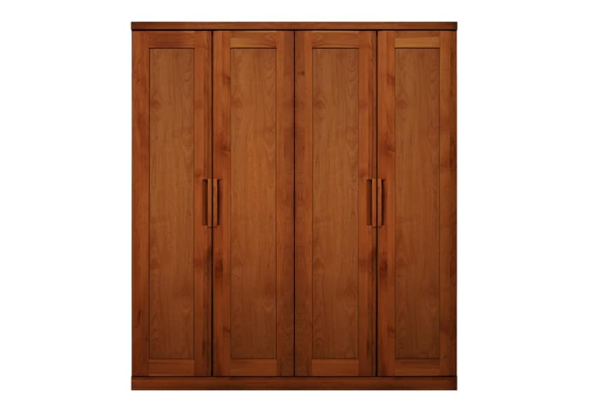 ステラスタンダード 170洋服 H=192・4枚扉 (チェリー):熟練の職人たちにより作られた確かな品質。