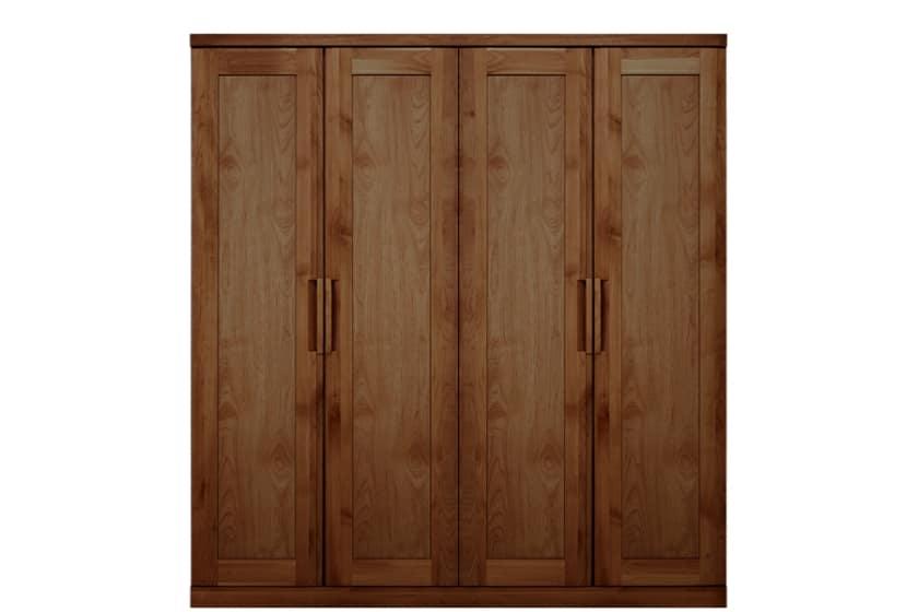 ステラスタンダード 180洋服 H=192・4枚扉 (ウォールナット):熟練の職人たちにより作られた確かな品質。