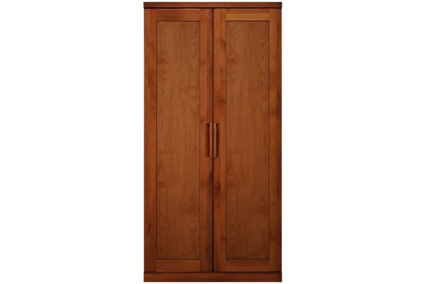 ステラスタンダード 100洋服 H=202・2枚扉 (チェリー):熟練の職人たちにより作られた確かな品質。
