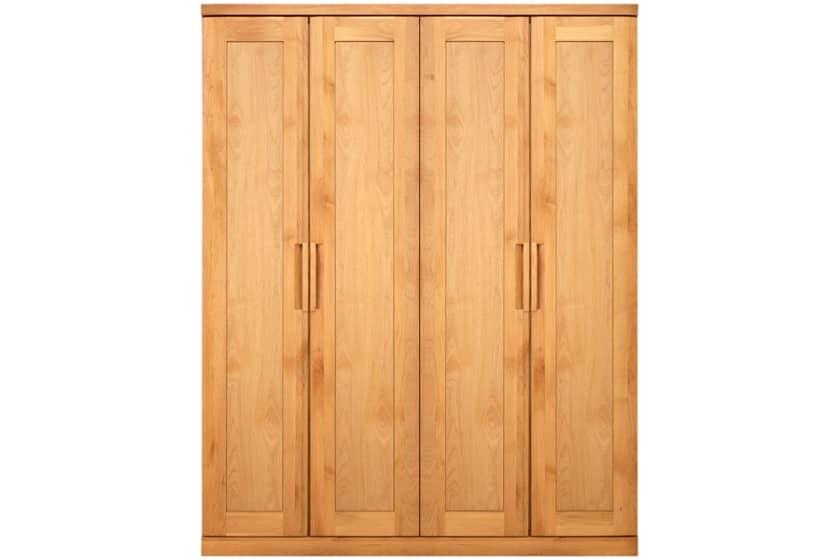 ステラスタンダード 160洋服 H=202・4枚扉 (ナチュラル):熟練の職人たちにより作られた確かな品質。