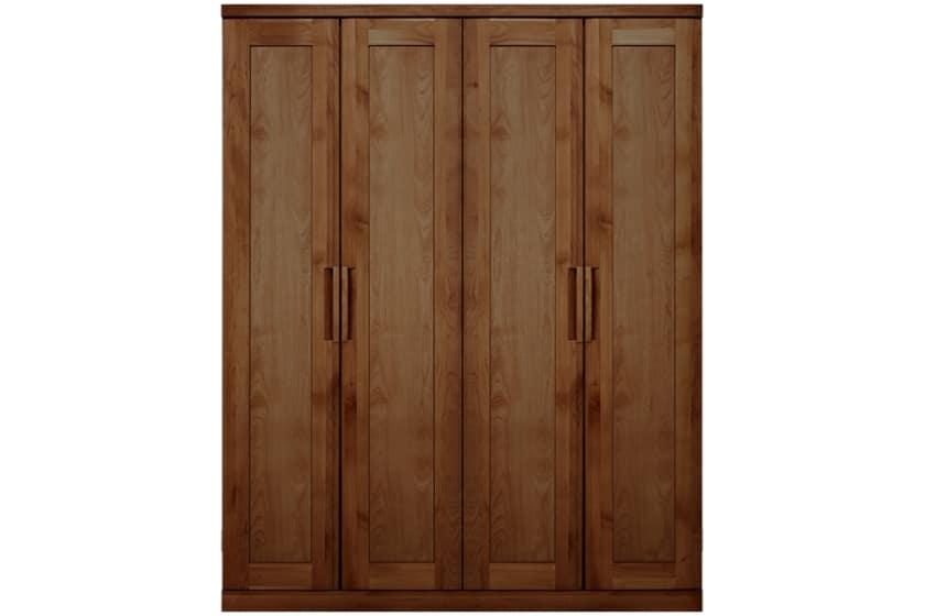ステラスタンダード 160洋服 H=202・4枚扉 (ウォールナット):熟練の職人たちにより作られた確かな品質。