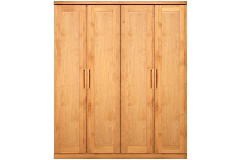 ステラスタンダード 170洋服 H=202・4枚扉 (ナチュラル):熟練の職人たちにより作られた確かな品質。