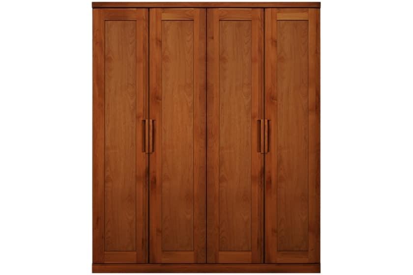 ステラスタンダード 170洋服 H=202・4枚扉 (チェリー):熟練の職人たちにより作られた確かな品質。