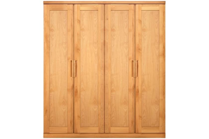 ステラスタンダード 180洋服 H=202・4枚扉 (ナチュラル):熟練の職人たちにより作られた確かな品質。