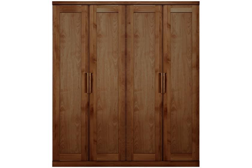 ステラスタンダード 180洋服 H=202・4枚扉 (ウォールナット):熟練の職人たちにより作られた確かな品質。