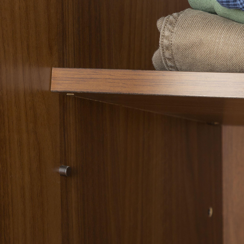 ワードローブ ナット 60 グレー/取手ブラック:棚板の高さ調節も簡単
