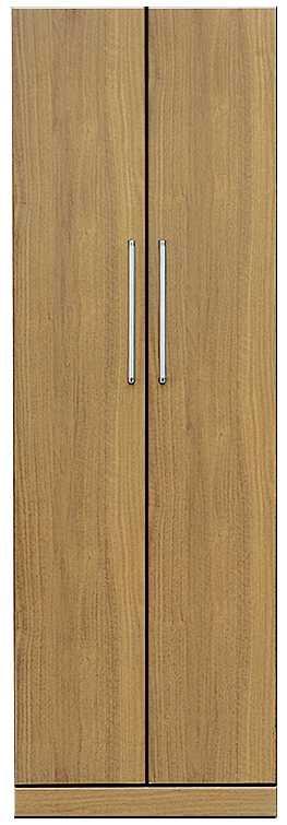 ワードローブ ナット 60 ナチュラル/取手シルバー:インテリアを作る