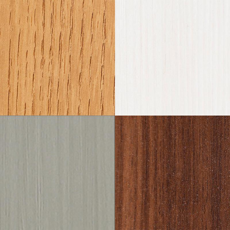ワードローブ ナット 80 ナチュラル/取手シルバー:選べるカラー4色