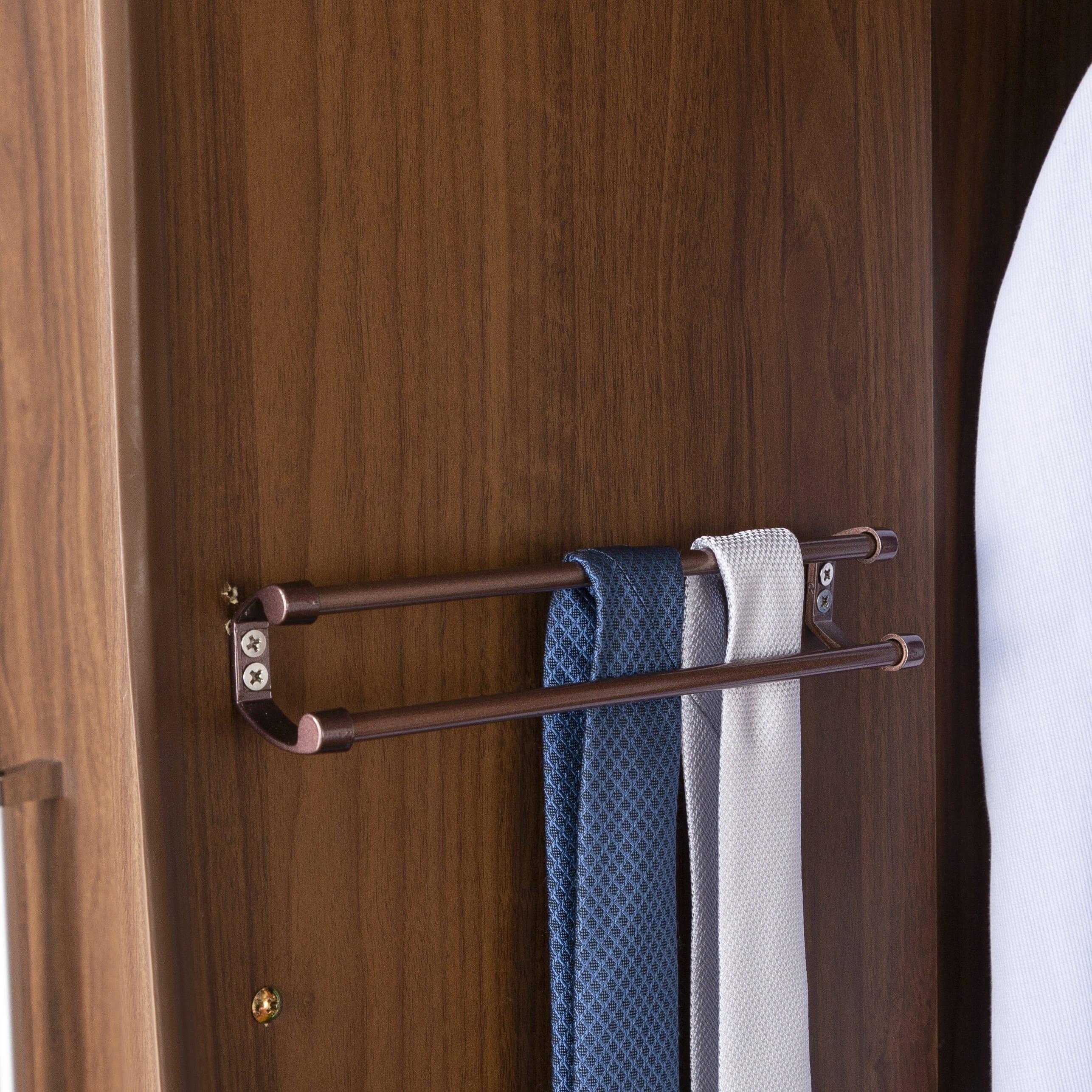 洋服タンス ナット 60 グレー/取手ゴールド:ねじ込み式ダボで調節簡単