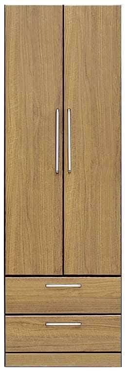 洋服タンス ナット 60 ナチュラル/取手シルバー:インテリアを作る