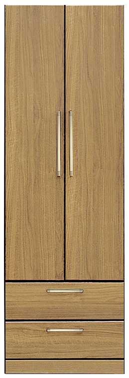 洋服タンス ナット 60 ナチュラル/取手ゴールド:インテリアを作る