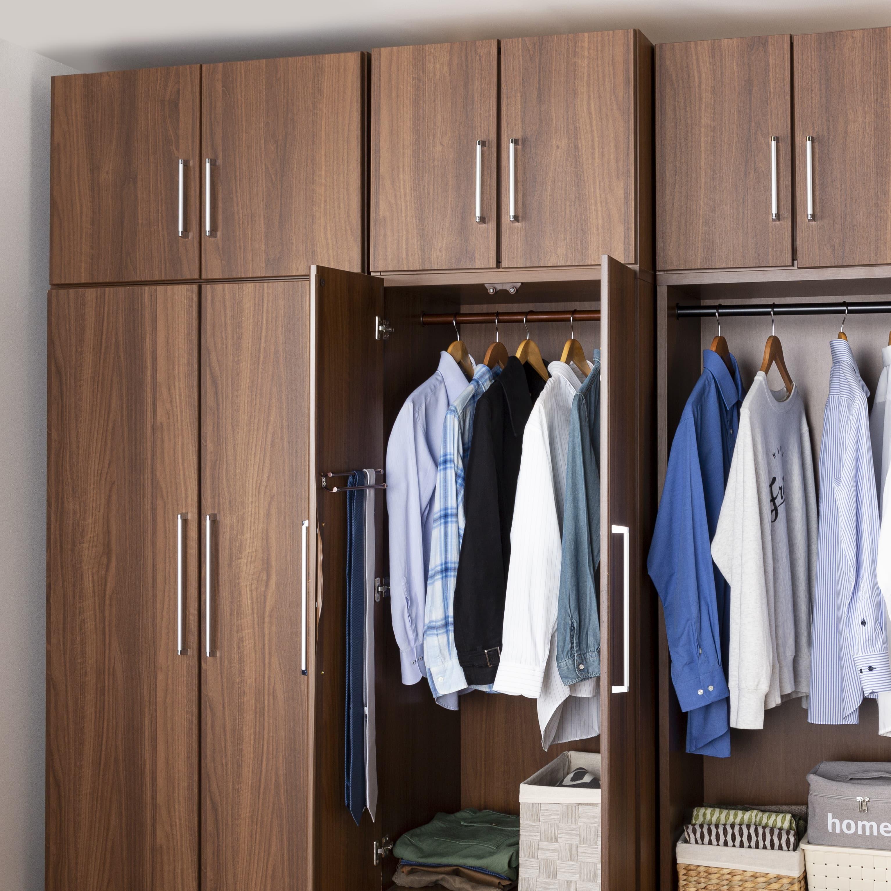 洋服タンス ナット 60 ナチュラル/取手ブラック:上置をプラスすればさらに収納力UP