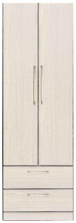 洋服タンス ナット 60 ホワイト/取手ゴールド:インテリアを作る