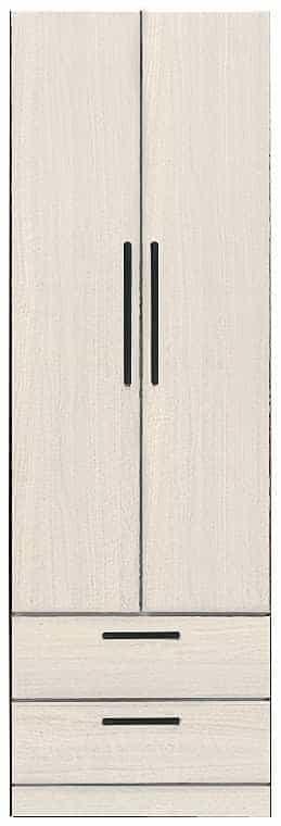 洋服タンス ナット 60 ホワイト/取手ブラック:インテリアを作る