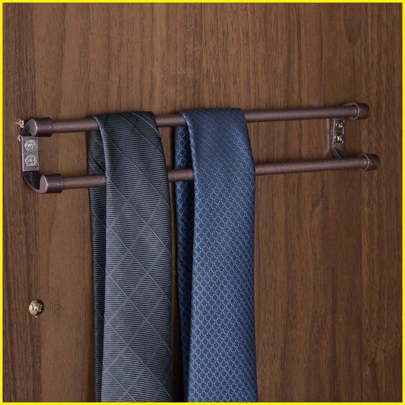 オープンラック ナット 80 グレー/取手ブラック:オーダーアイテム:ネクタイ掛け(店舗限定)