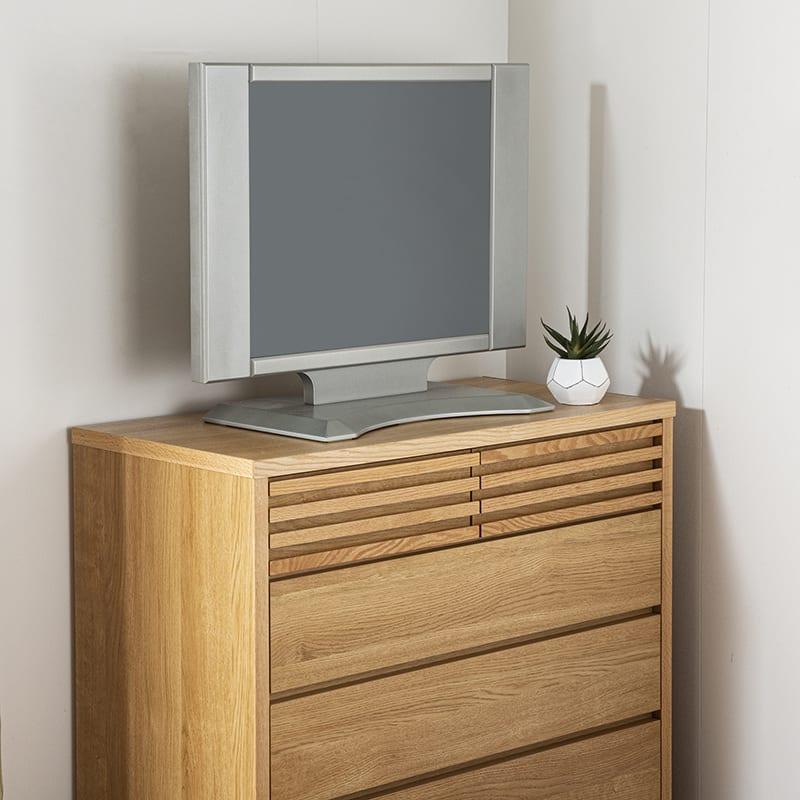 ローチェスト キューブ 90−4 NA:TVを載せても大丈夫!