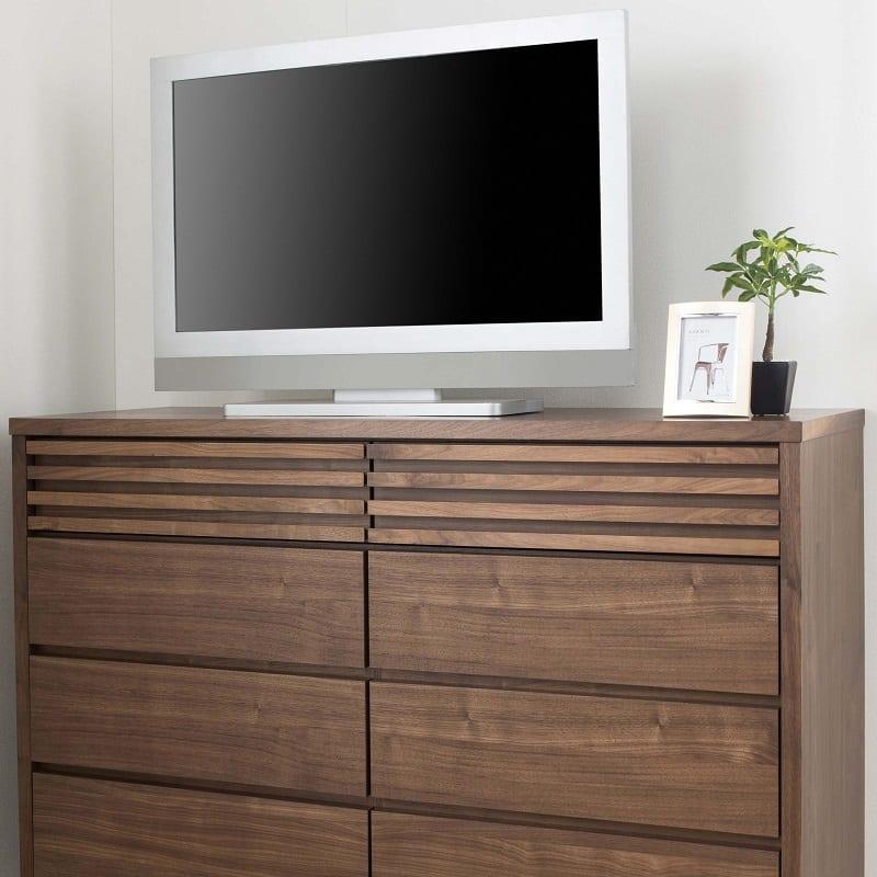 ミドルチェスト キューブ 90−5 WN:TVを載せても大丈夫!