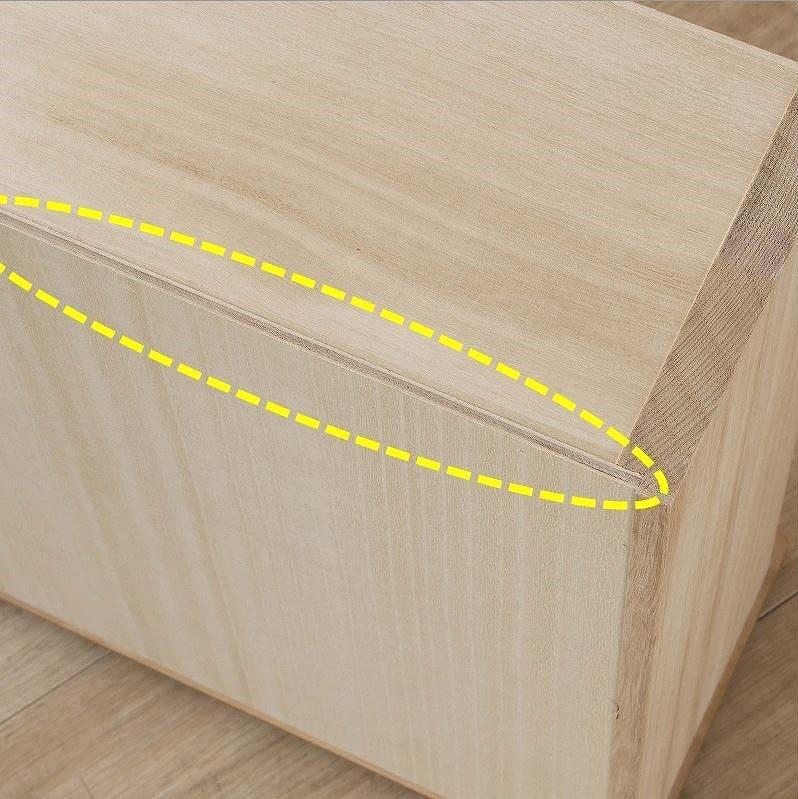 ビューティEX ハイチェスト90(ナチュラル):分厚い底板がより強度を高める